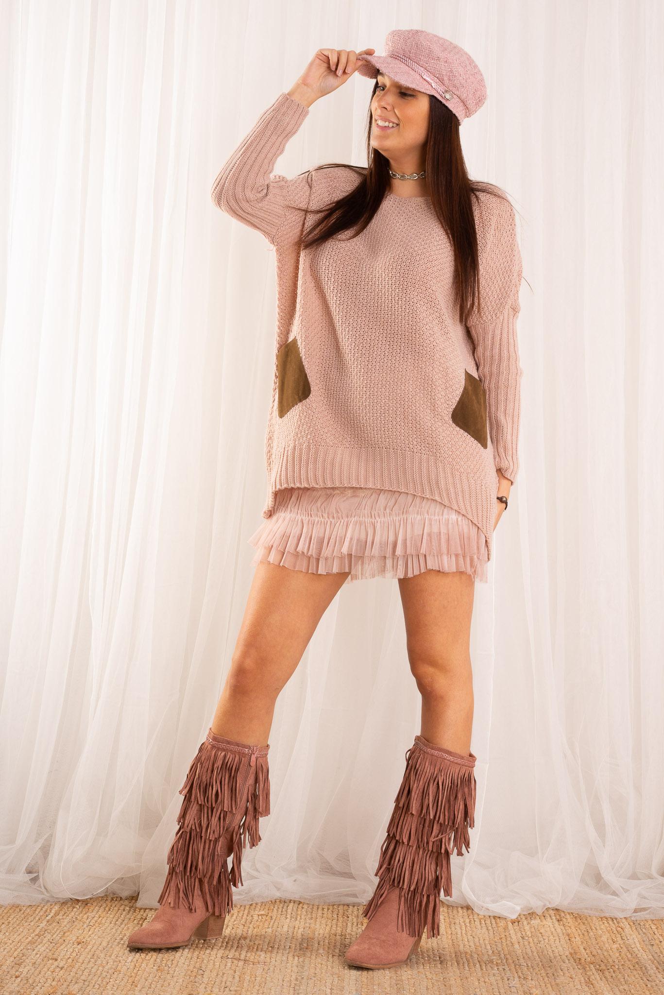Outfit nira maxi nude - Nunu Santander