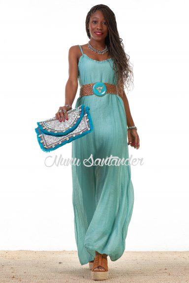 vestido largo tirante regulable