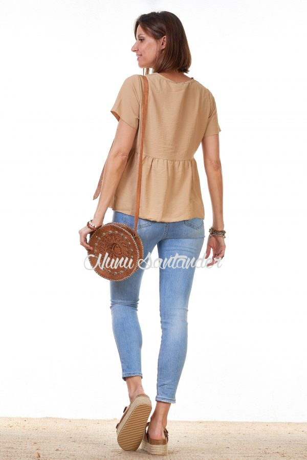 blusa manga corta cruzada