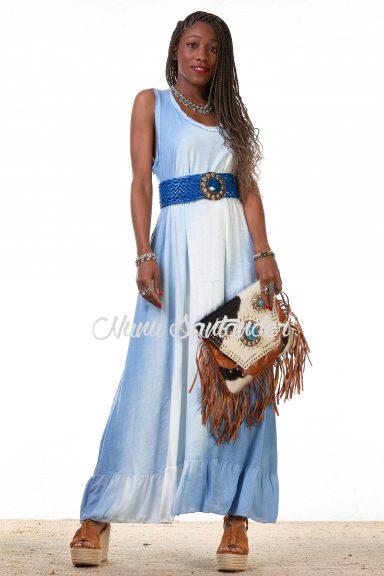 vestido degradado azul
