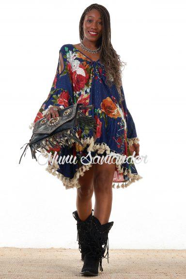 vestido tipo poncho