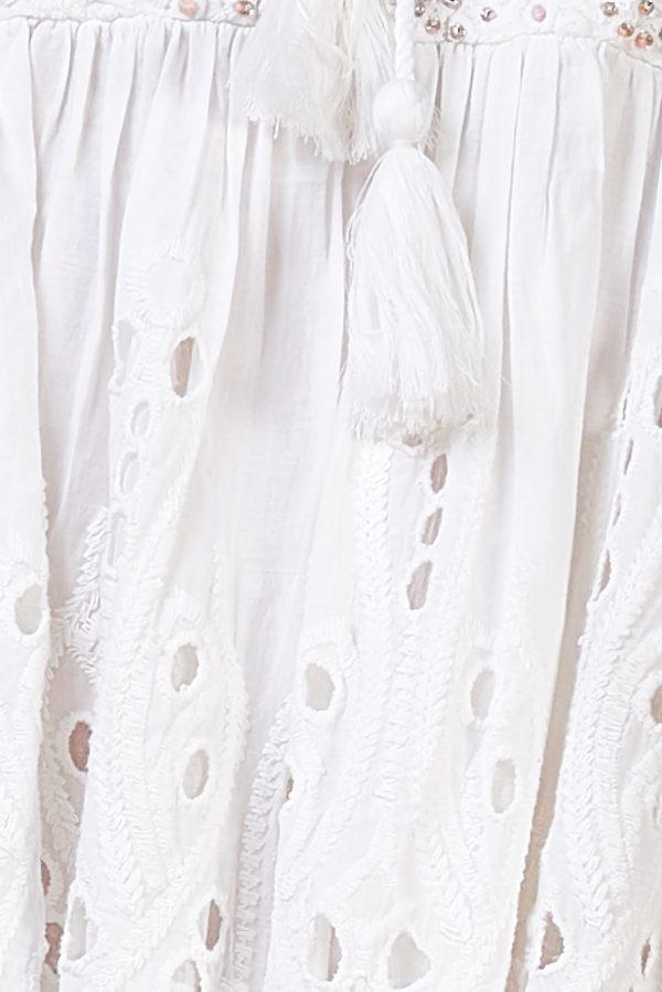 vestido blanco troquelados