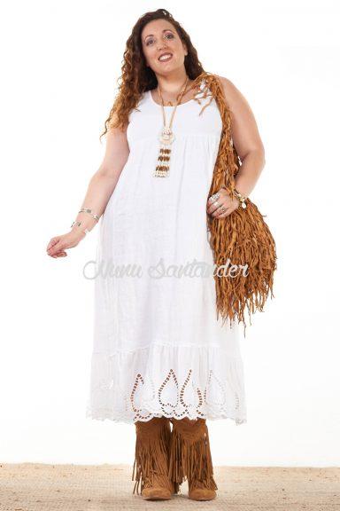 vestido blanco para chicas curvy