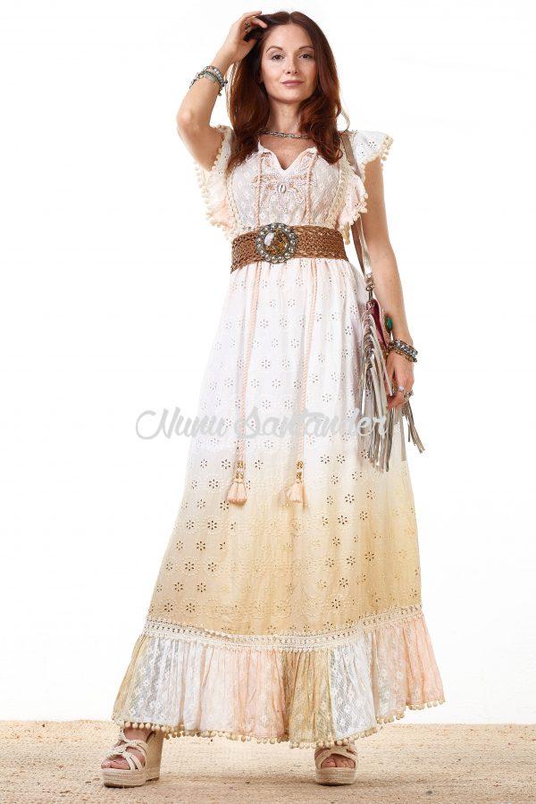 vestido bordados perforados