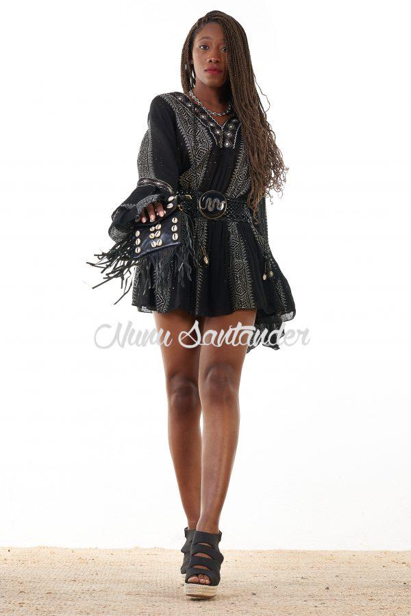 Vestido corto etnico