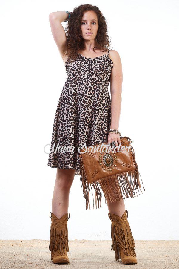 vestido leopardo