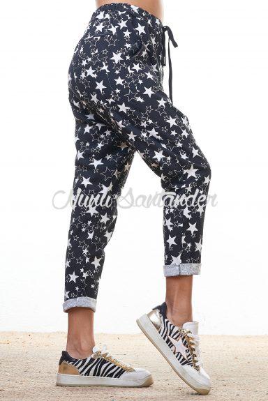 Pantalon baggy con estampado de estrellas