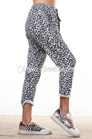 pantalon baggy estampado animal