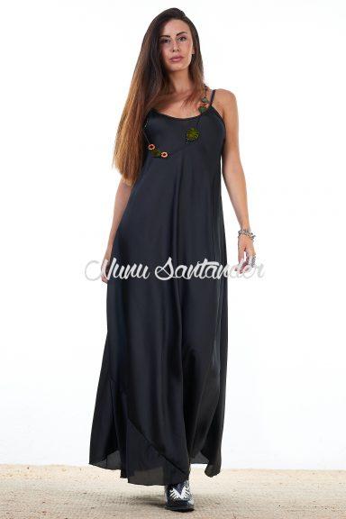 vestido largo de satén