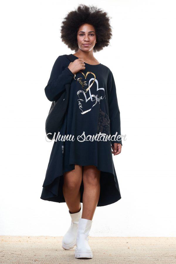 vestido estampado de algodón