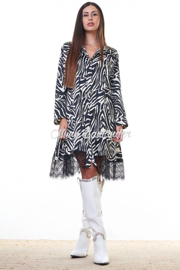vestido con puntilla