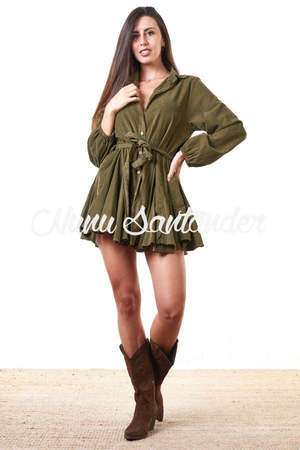 vestido de pana