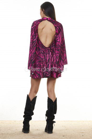 vestido cebra